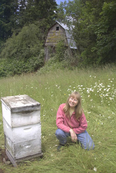 Jacqueline with bees